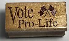 SonLight Impressions 1990 Cerritos Ca Vote Pro Life Stamp American Flag Wc305-C