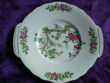 """Double handled Cake Sandwich Plate Serving plate Crescent & Sons England 10"""" VGC"""