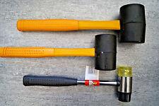 3 St. Ausbeulhammer Gummihammer 350-450-600 gr. Schonhammer Hammer Gummihämmer