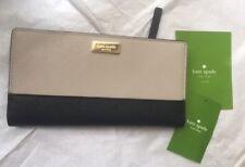 KATE SPADE New York Stacy Newbury Lane  Leather Bifold Wallet  Black Mousfro