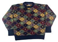 Vtg Twickers Kenneth Gordon Mens Cosby Biggie Crewneck Sweater L Cotton Linen