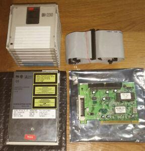 MO Drive Laufwerk OLYMPUS MOS330E + SCSI Controller + Kabel + 8 MO Discs a 230MB