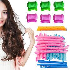 HA 18X Magic DIY Curlers Hair Roller Spiral Leverag Ringlet Magic Leverag Hooks