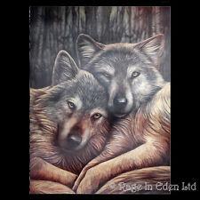 *LOYAL COMPANIONS* Goth Fantasy Wolf Art 3D Print By Lisa Parker (39x29cm)