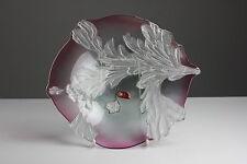 Original Walther Glas Schale Rot Deko