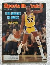 Sports Illustrated March 9, 1981; Magic is Back, Johnson Gives LA a Lift -RARE!
