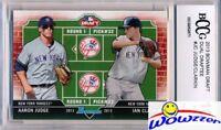2013 Bowman Draft #DD-JC Aaron Judge/Ian Clarkin Rookie BECKETT 10 MINT Yankees