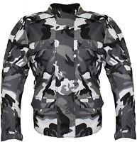 Motorradjacke Biker Jacke Wasserdicht Winddicht Textil Racing Herren Camo Custom