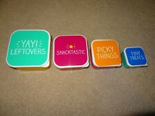 New Happy Jackson Set of 4 Lunch Boxes Containers Leftovers Reusable