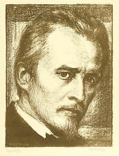 Hugo Wolf-effigie-Karl Bauer-LITOGRAFICO 1903