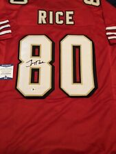 Jerry Rice Signed Custom Jersey! BAS Beckett Witnessed