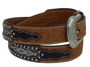 Nocona USA Western Gürtel Floral Indian Cowboy Cowgirl