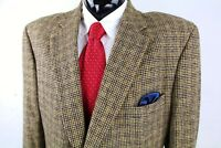 JOS A BANK (48X 50X) Mens Taupe Brown Houndstooth Camel Hair Thick Sport Coat