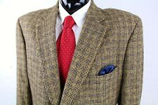 JOS A BANK (50X) Mens Taupe Brown Houndstooth Camel Hair Sport Coat