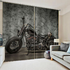 Vintage retro motorcycle 3d curtain curtain hanging decoration bedroom fabric