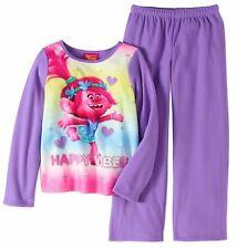 NWT Trolls Girls size 10/12 Pajamas Purple Shirt/Top/Pants Set Poppy Large L NEW