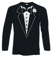 Tuxedo Long Sleeve T Shirt (Stag Fancy Dress Party)
