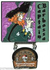 WDW Pirates OTC Legend Lives On: Captain Barbossa Pin
