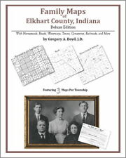 Family Maps Elkhart County Indiana Genealogy IN Plat