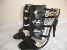 NEW BEBE SIRIUS Size 7 BLACK ANKLE STRAP SANDALS WOMEN SHOES HEELS BEAUTIFUL
