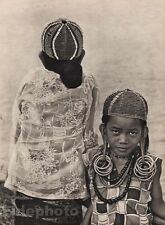 1940s Original Borneo CHILDREN Jewelry Beads Fashion Sarawak Photo Art K.F. WONG