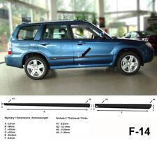 Seitenschutzleisten schwarz für Subaru Forester II Typ SG SUV Baujahre 2002-2008