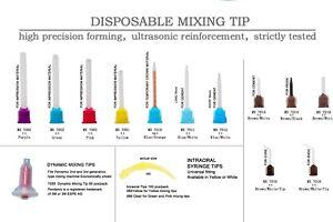 50pcs Dental Stomatology Disposable Impression Mixing Silicone Rubber Tube Tips