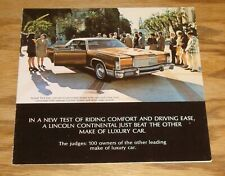 Original 1974 Lincoln Continental Sales Brochure Folder 74 Mark IV Town Car