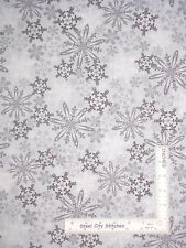 Christmas Snowflake Gray Cotton Fabric Kanvas Studio Shades Winter By The Yard