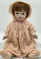 Antique Reproduction, Vintage, 1987, Cubby Baby Doll Fine Bisque Porcelain