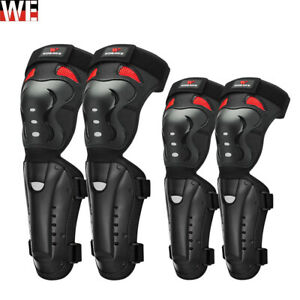 Adult Motorcycle Motocross Knee Brace Elbow Pads Adjustable Shin Protective Gear