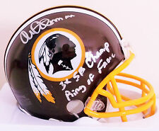 Monte Coleman Double Inscribed Washington Redskins Mini Helmet Ring of Fame