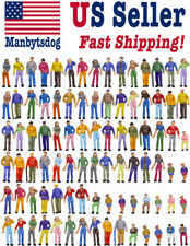 100pcs Model Trains 1:75 Painted Figures Oo Ho Scale Gauge People Us Seller