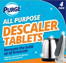 4 Descaler Descaling Cleaning Tablets Limescale Remover Kettle Coffee Machines