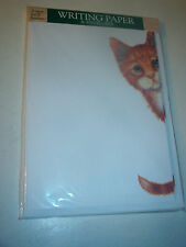 OTTER HOUSE WRITING PAPER PEEK-A-BOO GINGER CAT  SUE HALL  20 SHEETS & ENVELOPES