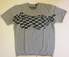 FCUK Checkered Flag Mens Large Grey Tshirt