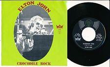 "ELTON JOHN 45 TOURS 7"" BELGIUM CROCODILE ROCK (POCHETTE VERTE)"