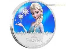 2 $ Dollar Disney Frozen Die Eiskönigin Elsa Niue Island 1 oz Silber PP 2016