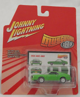 Johnny Lightning Muscle Cars 1969 AMC AMX Lime Red Line Tires Chrome Hubs