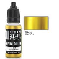 Metallic Paint SHINY GOLD 17ml - acrylic brush airbrush modelling hobby