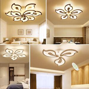 LED Lamp Flower Shape Ceiling Light Chandelier Lights Living Dining Room Bedroom