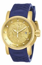 Invicta S1 Rally Automatic Dragon Gold Dial Blue Polyurethane Men's Watch 18215