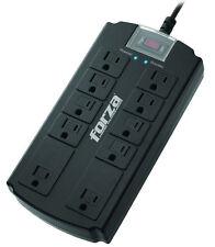 Forza Surge Protector Power Strip AC 110-220 VAC 10 Nema Outlets