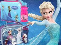 Disney Frozen Lunch Bag and/or Tritan Bottle Set School New Gift Anna Elsa Olaf