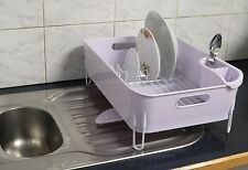New Premium Quality White Dish Rack with Rotating Drainer Clas6392
