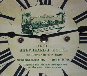 Shepheard's Hotel Cairo, Classic Souvenir Replica Victorian Style Wall Clock.
