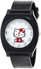 NEW HELLO KITTY PLASTIC BLACK SILICONE BAND,THE FULL BODY WATCH-H3WL1017BLK