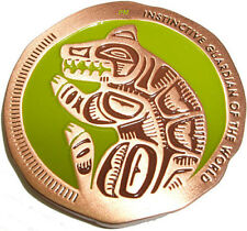 NATIVE AMERICAN TOTEM GEOCOIN - BEAR - VARIOUS METALS - UNACT- NEW