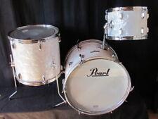 Pearl Drum Set 20,13,16 White Pearl, Vintage 60er