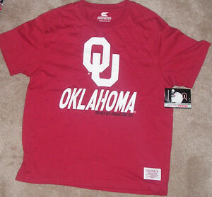 NEW NCAA Oklahoma Sooners T Shirt Youth Boys L Large 16 18 -Colosseum- NEW NWT